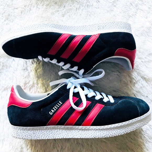 902d8a17165 adidas Other - Adidas Gazelle Sneakers Men s 9 Black Red Suede